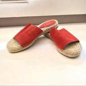 Coach Shoes - Coach coral leather slides 10
